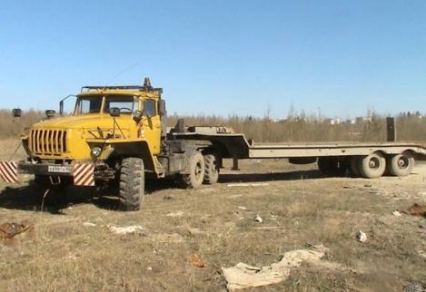 КРАЗ-6443 с полуприцепом ЧМЗАП